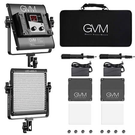 GVM 2 Pack LED Video Lighting Kit