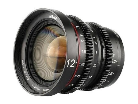 Meike 12mm T2.2 Manual Focus Wide Angle Cinema Lens