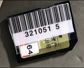 Although small, its possible to barcode SD cards
