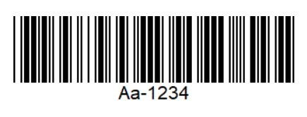 Conventional one-dimensional barcode